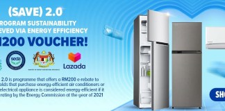 Jimat RM200 untuk pembelian aircond dan peti sejuk