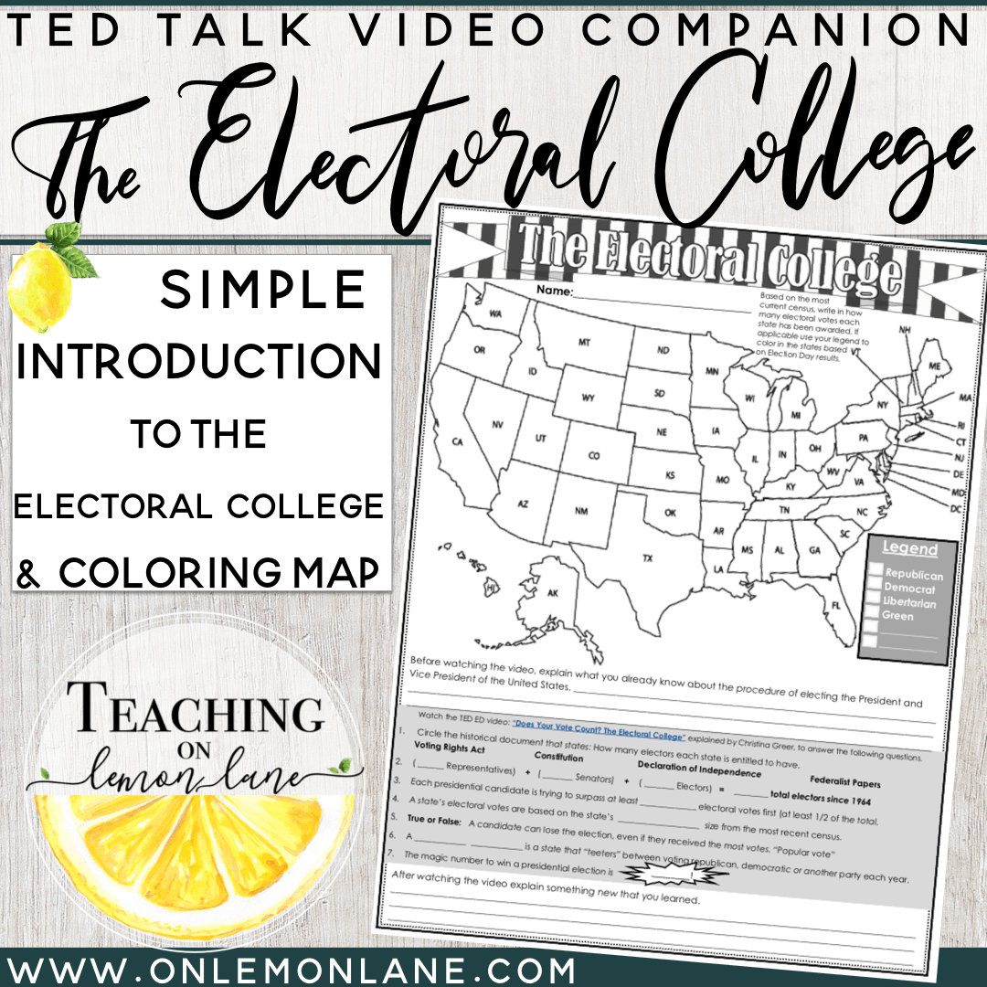 Election Electoral College Explained W Coloring Map