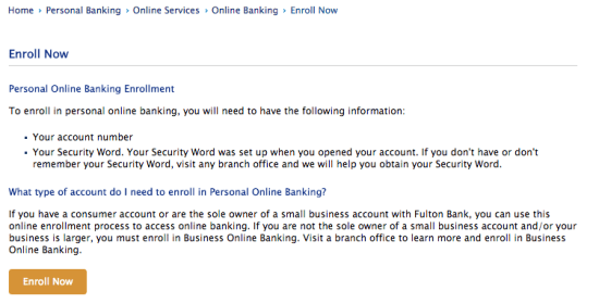 Fulton Bank Personal Online Banking