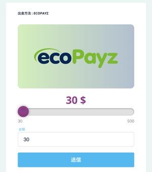 カジノシークレット ecoPayz出金