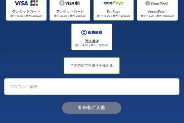 カジ旅の電子決済サービスによる入金手順④
