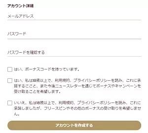 チェリーカジノ登録手順4