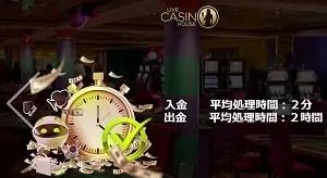 ライブカジノハウス 入金出金