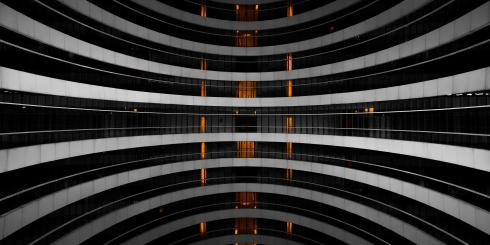 Abstract image of building interior