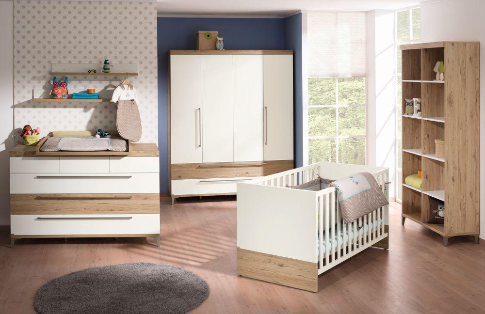 Paidi Babyzimmer Remo kreideweiß Eiche Möbel Letz - Ihr Online-Shop