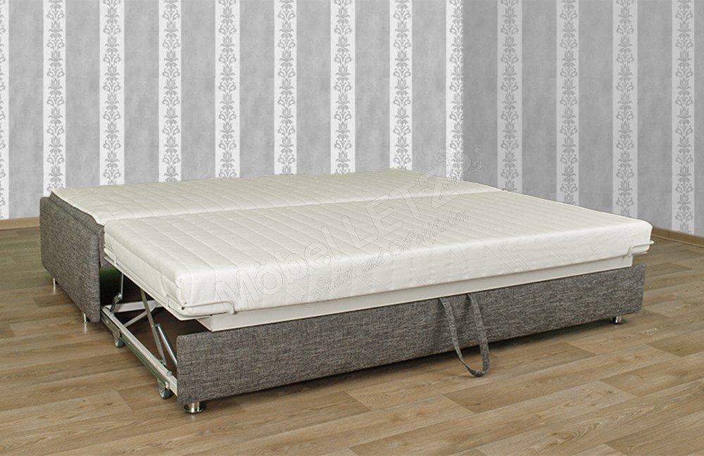 Boxspring sofa mit schlafsofa mit bettkasten und for Schlafcouch mit boxspring