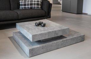 [en.casa] Couchtisch in moderner Beton Optik Zement ...
