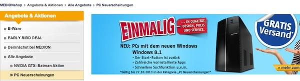 medion windows 8.1