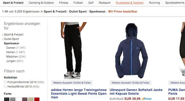 amazon 60 prozent rabatt sportswear