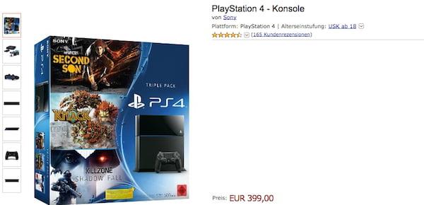 amazon ps4 bundle 399 euro