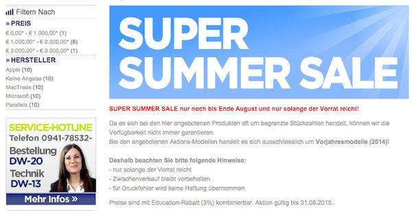 mactrade super summer sale 200 euro rabatt