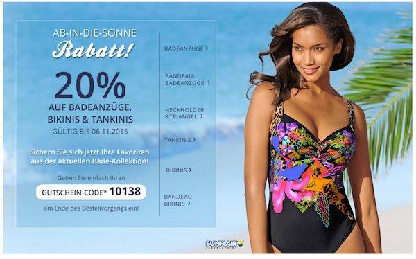 alba moda 20 prozent rabatt beachwear