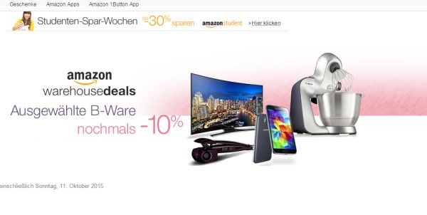 amazon warehouse deals 10 prozent rabatt