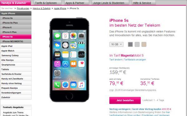 iphone 5s rabatt