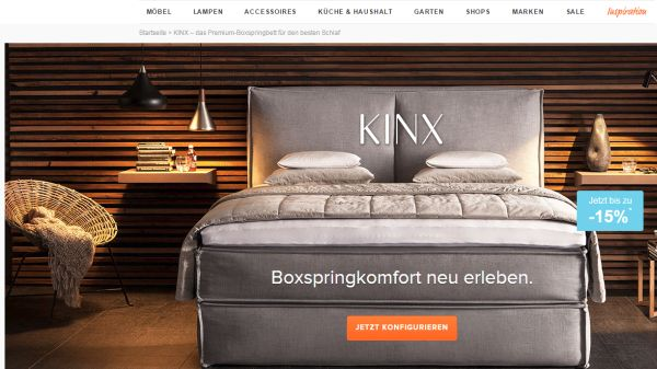 home24 kinx bett sale 15 prozent rabatt