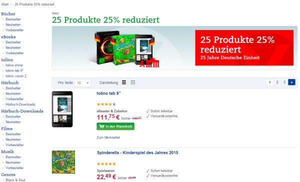 thalia 25 produkte 25 prozent rabatt