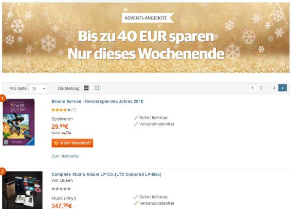 buch de adventsangebote 40 euro rabatt