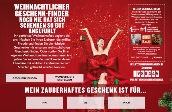 the body shop at geschenke finder weihnachten