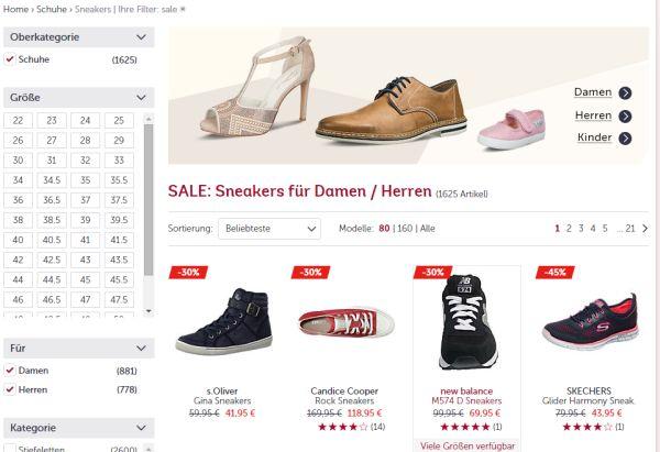 mirapodo sneaker sale 60 prozent rabatt