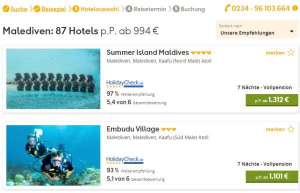 neckermann reisen 60 euro rabatt malediven
