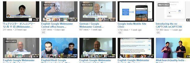 Google Webmaster Hangouts