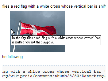 An image of a flag explaining what an alt tag is