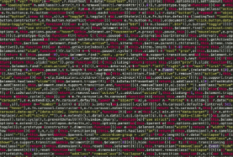 Image of code fragment showing tracking tags weighing down your site with too much code.