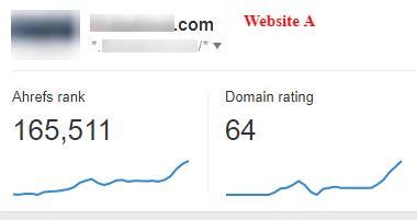 AHREFS - Last 12 months website A