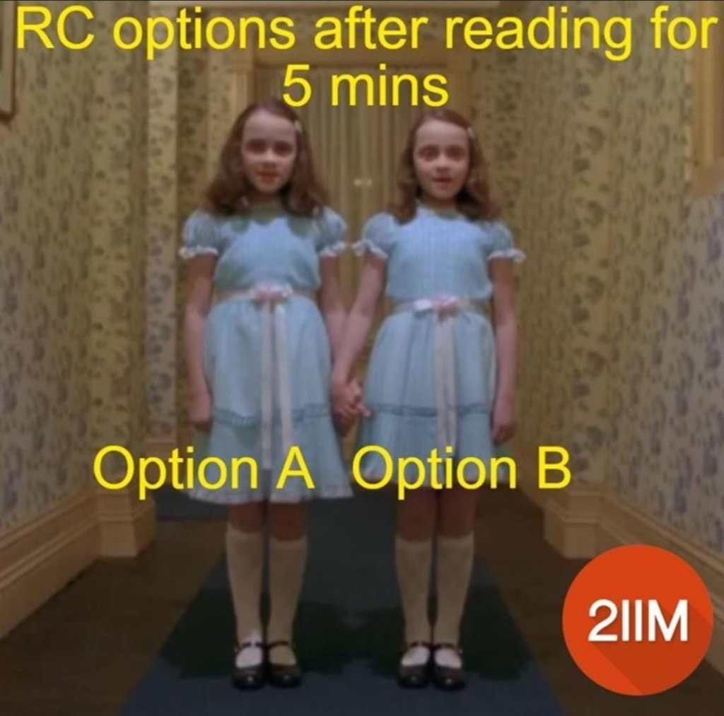 Dilemma of choosing between the 'last two options'