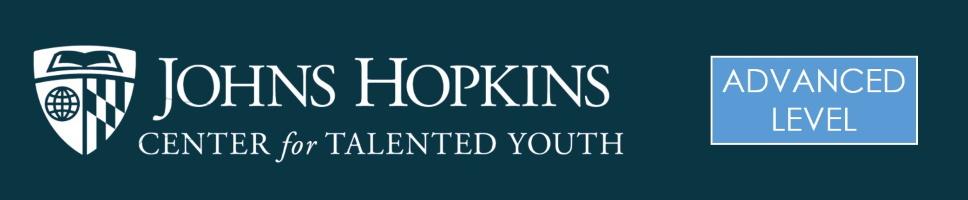 Johns Hopkins CTY Advanced Banner