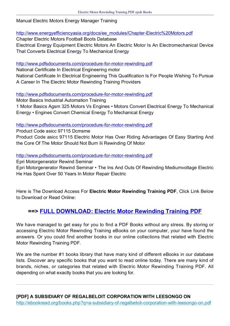 Electrical Motor Rewinding Books Pdf Wiring Book Urdu Electric Training Ebookread