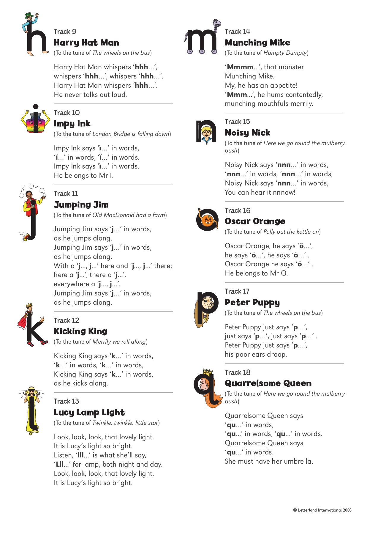 Teach Child How To Read Phonics Songs Lyrics Printable