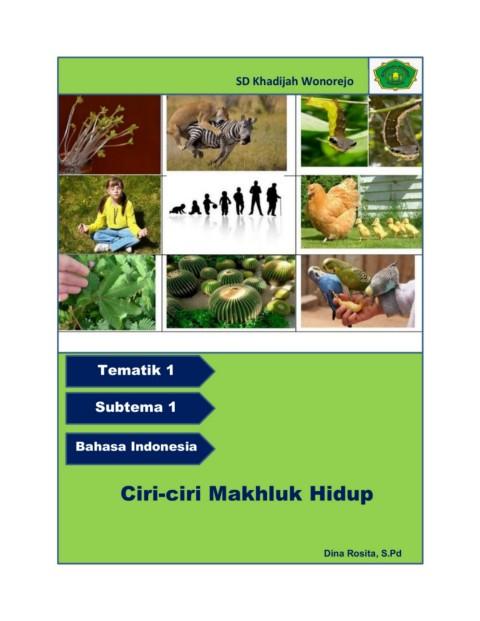 Tematik 1 Subtema 1 Bahasa Indonesia Pages 1 8 Text Version Anyflip