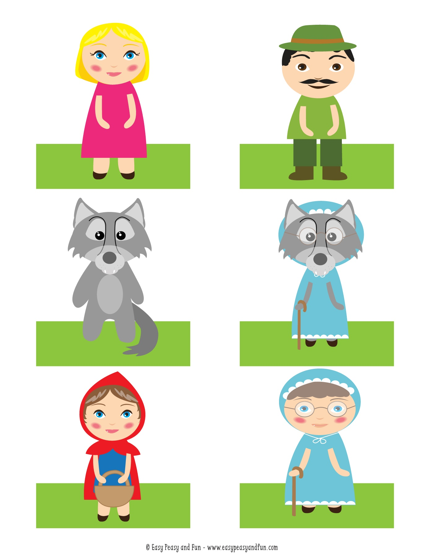 Printables Of Printable Little Red Riding Hood
