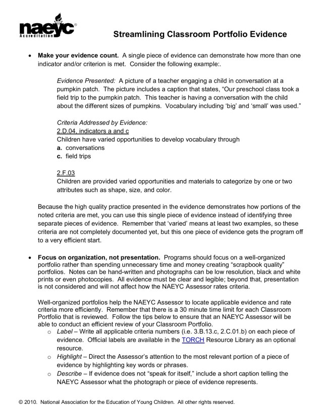 Streamlining Classroom Portfolio Evidence - GSA Home Pages 27 - 27