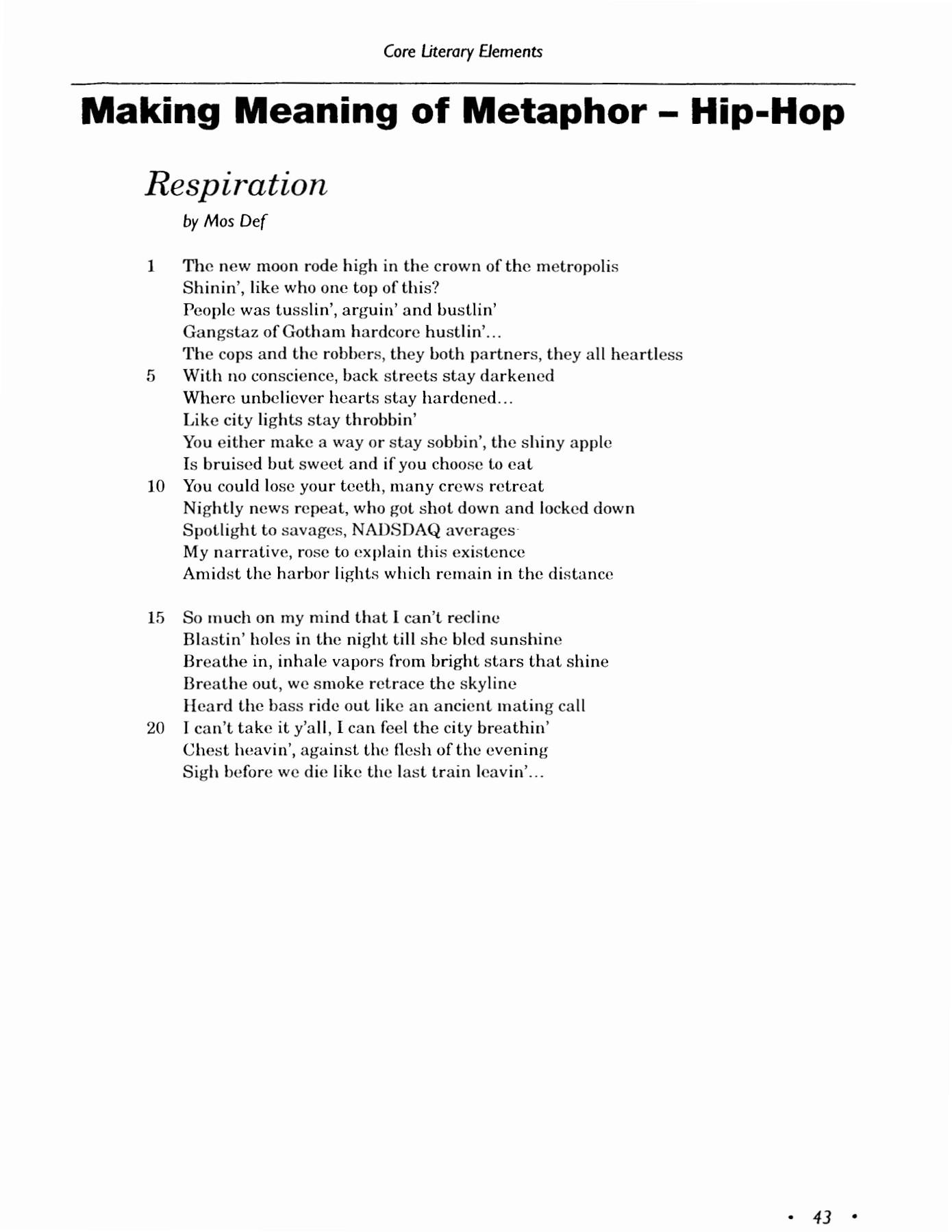 Metaphor Meanings Worksheet Answers