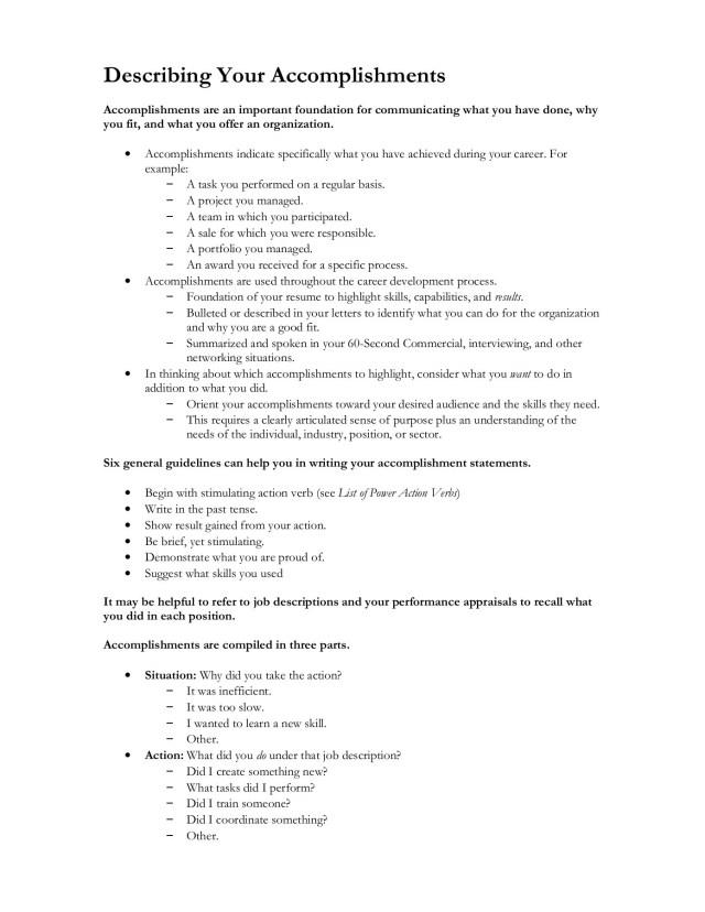 Describing Your Accomplishments Pages 16 - 16 - Flip PDF Download