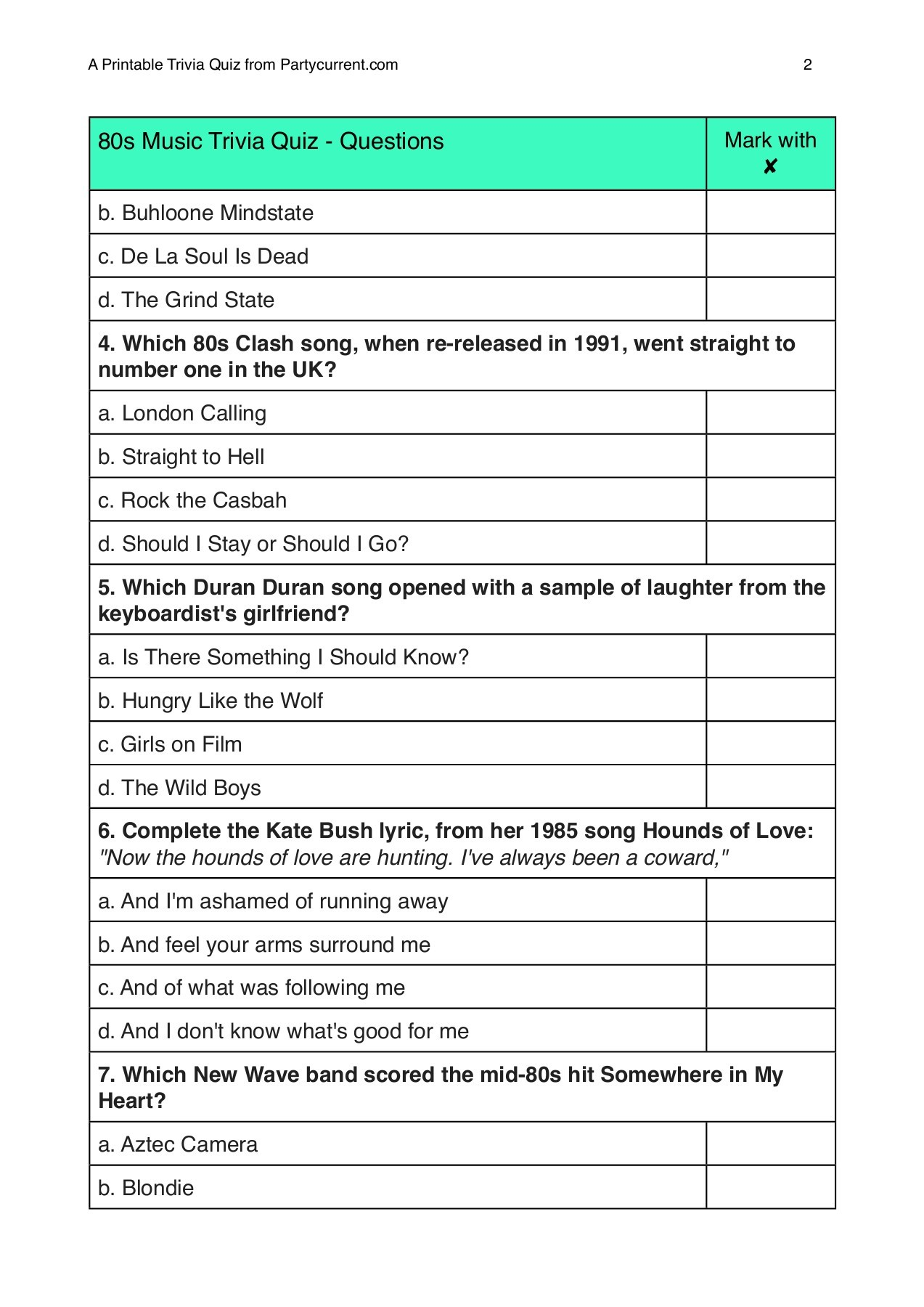 Top Printable Summer Trivia Questions And Answers