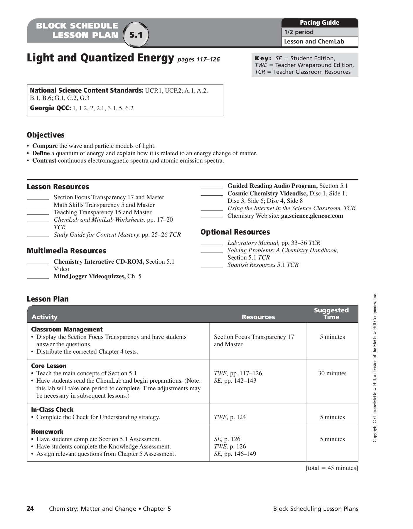 5 1 Light And Quantized Energy Worksheet Answers