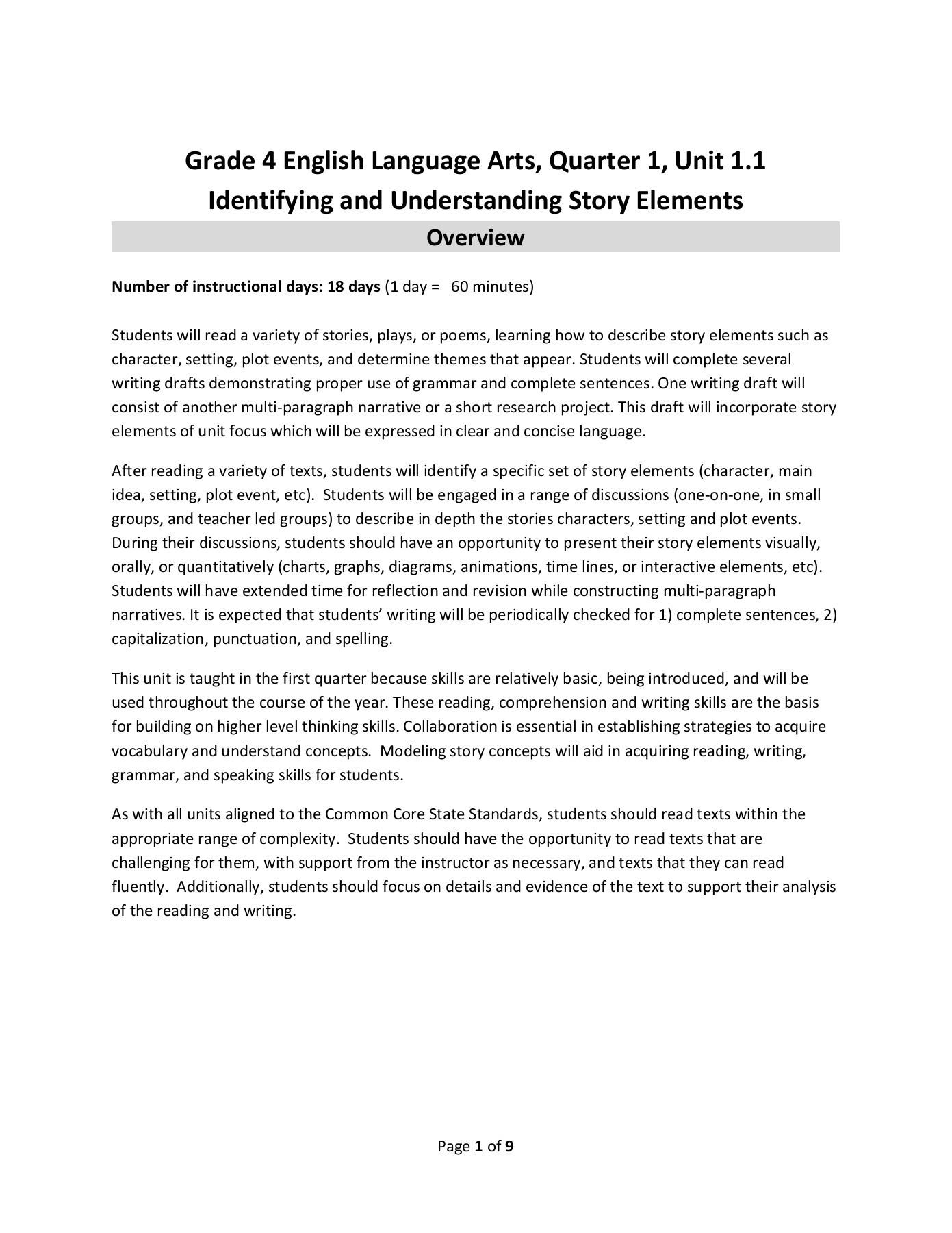 Storytown Fourth Grade Lesson 4 Spelling Test