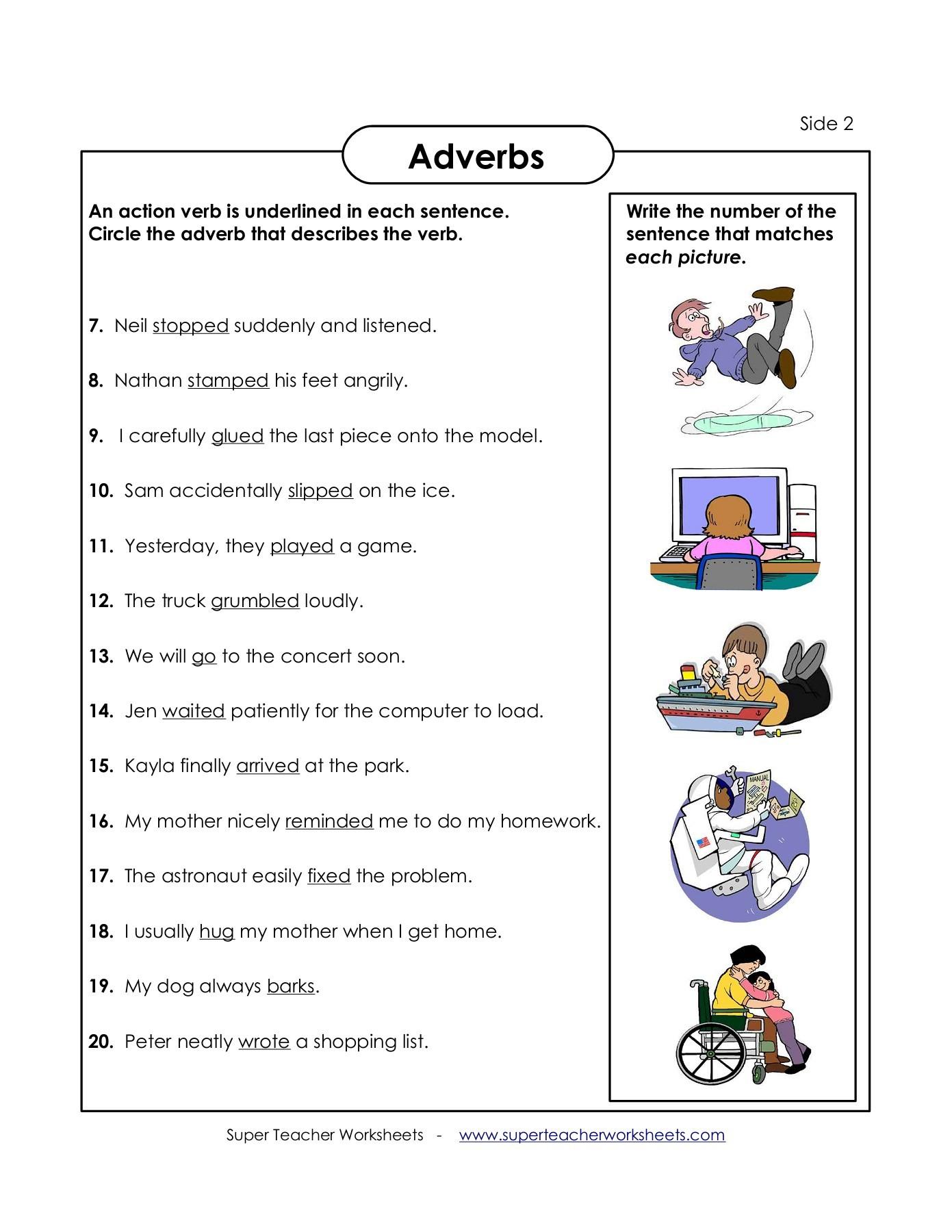 Printables Of Super Teaher Worksheets