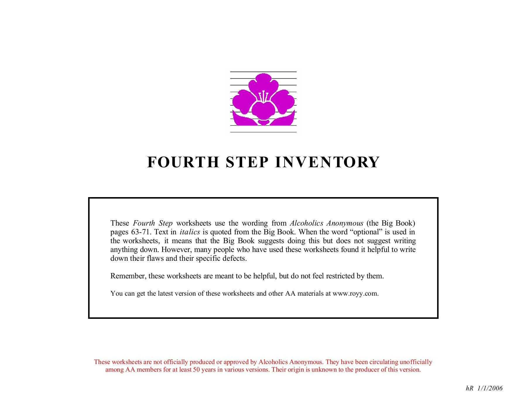 Step 2 Aa Worksheet