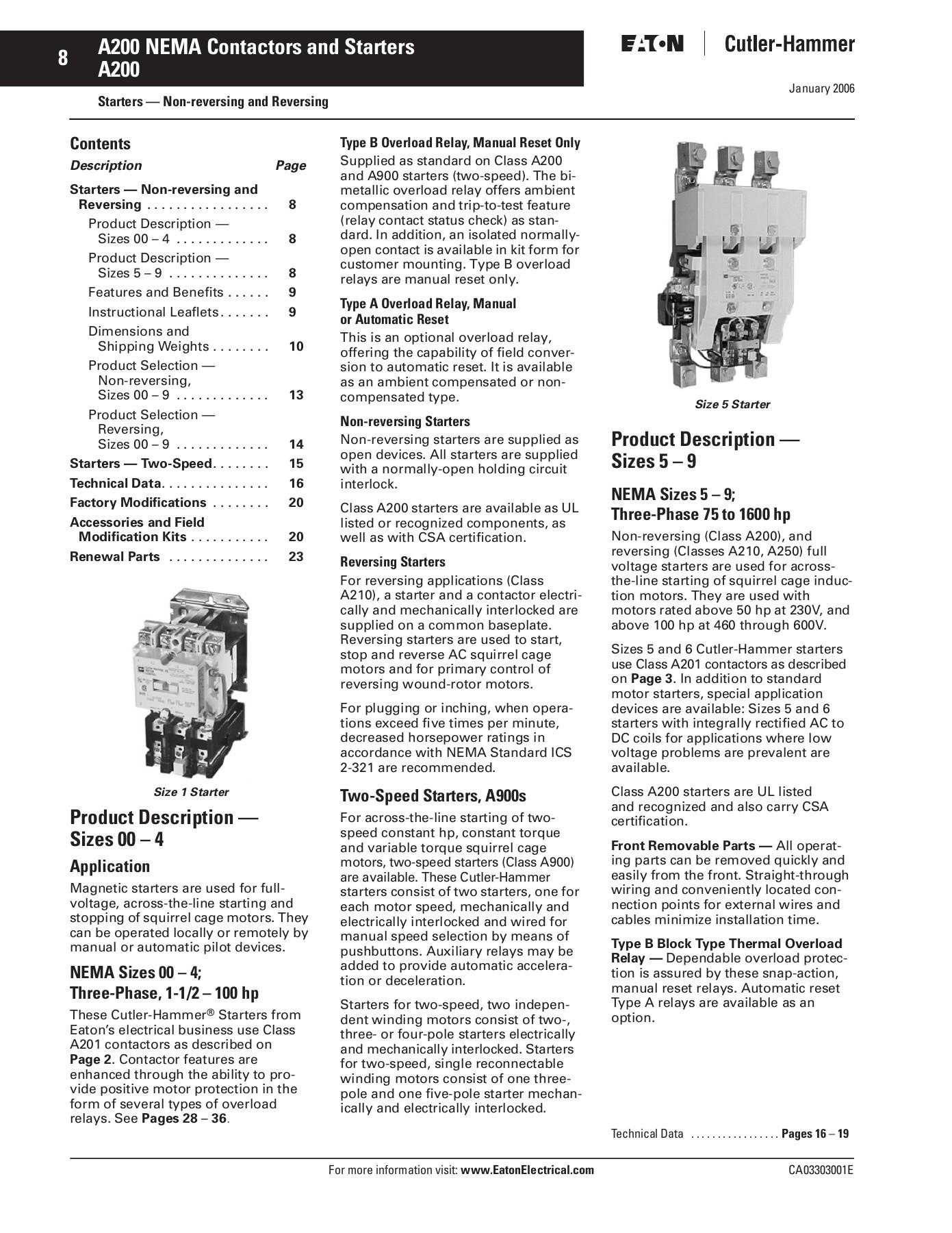Nema Size 1 Motor Starter Wiring Diagram