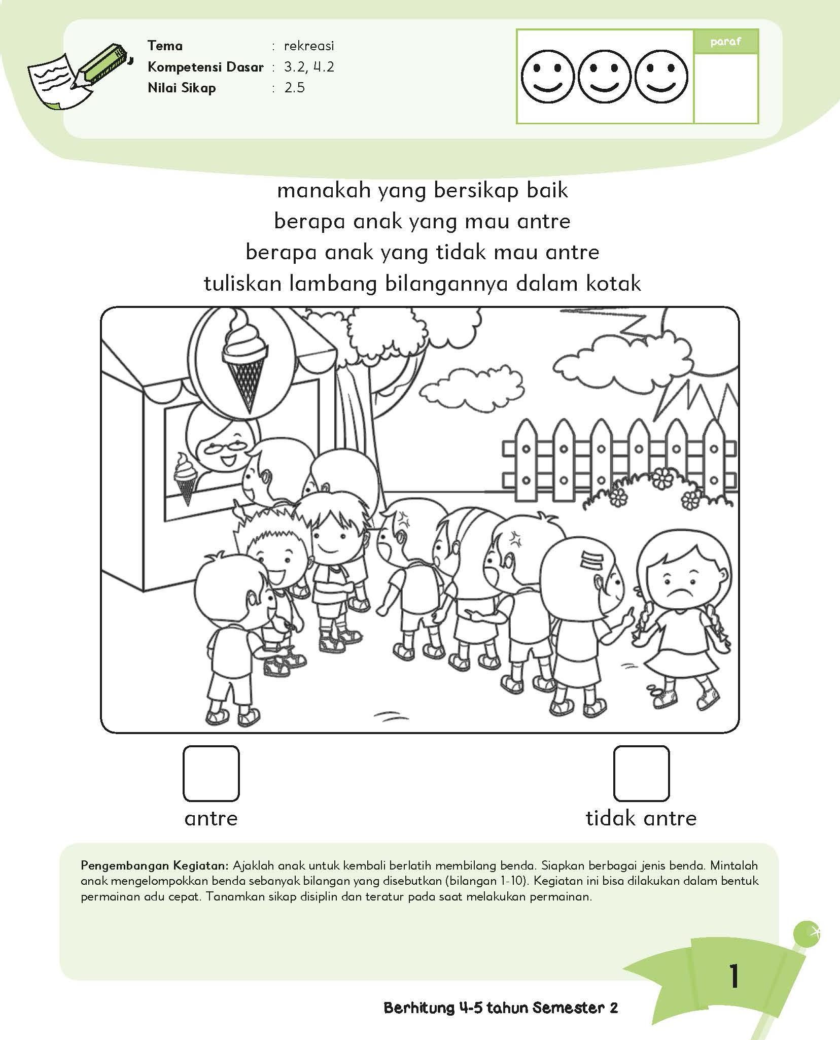 Worksheet Matematika Untuk Tk