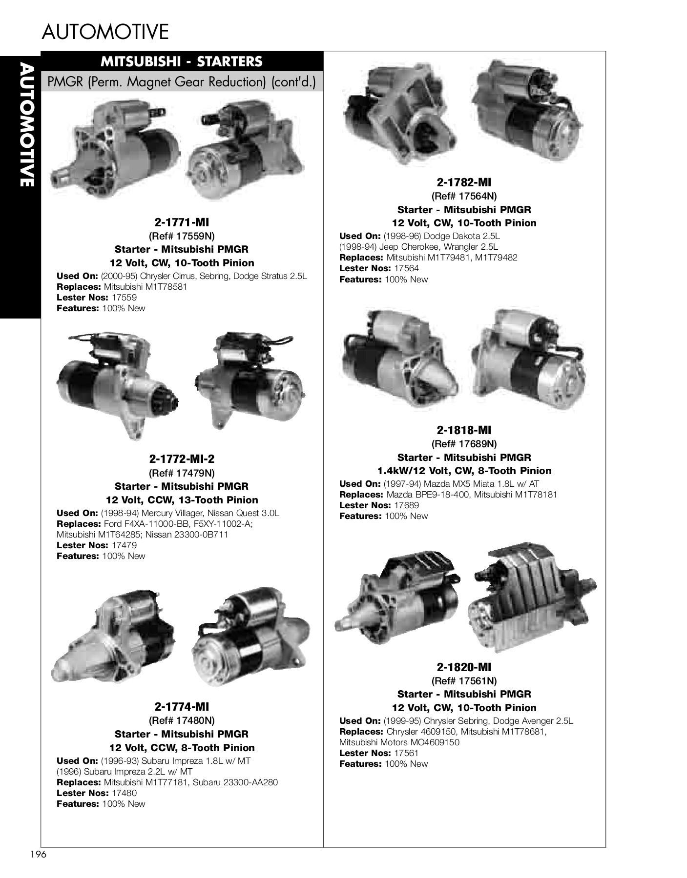 Auto Parts Amp Accessories New Starter Geo Tracker 1 6l