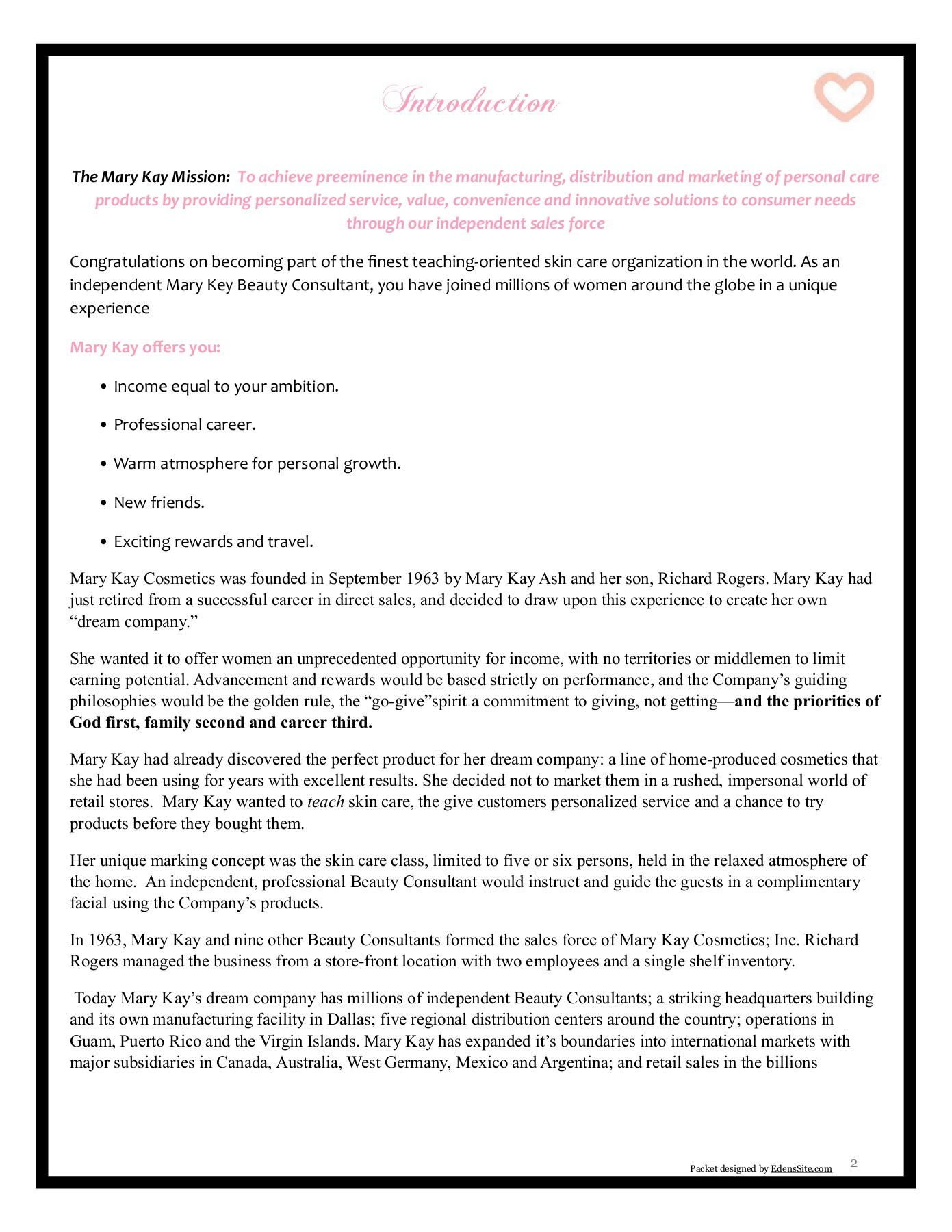 Mary Kay Product Knowledge Worksheet