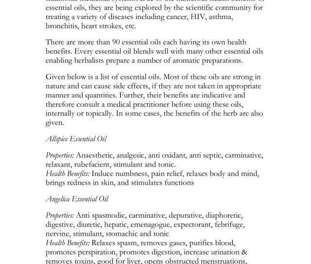List Of Essential Oils Health Oracle Pages   Text Version Fliphtml