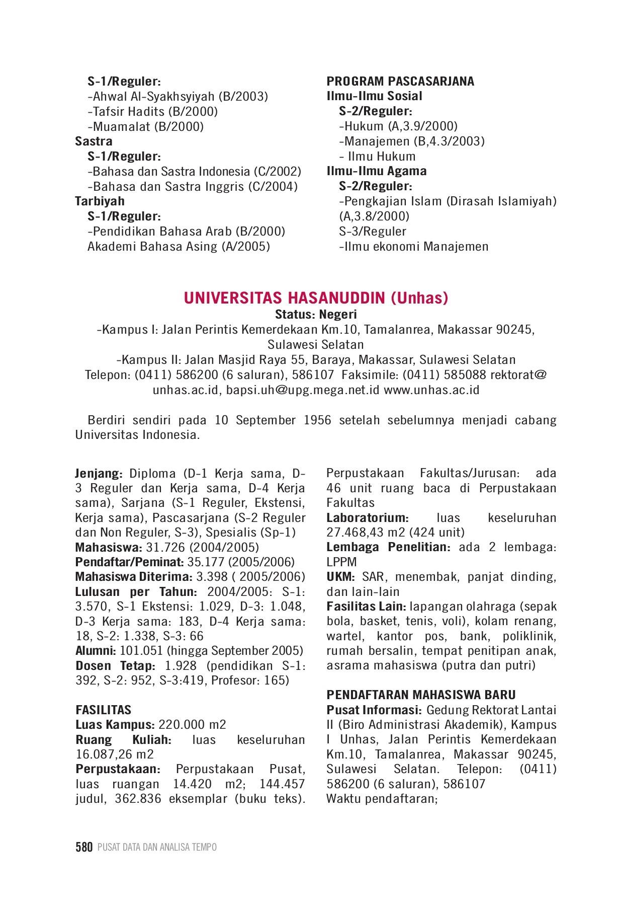 Teka teki silang tentang olahraga. Profil Kampus Perguruan Tinggi Di Indonesia Pages 601 650 Text