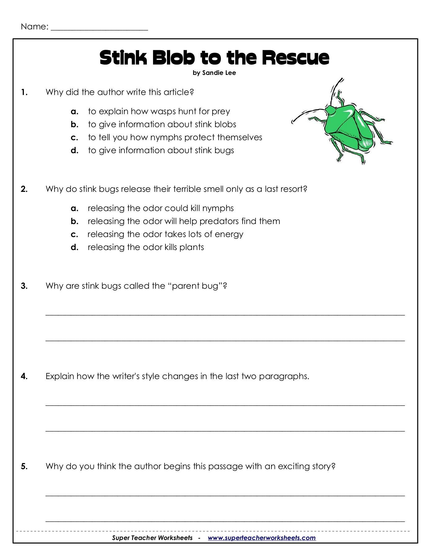 Super Teachers Worksheets Com