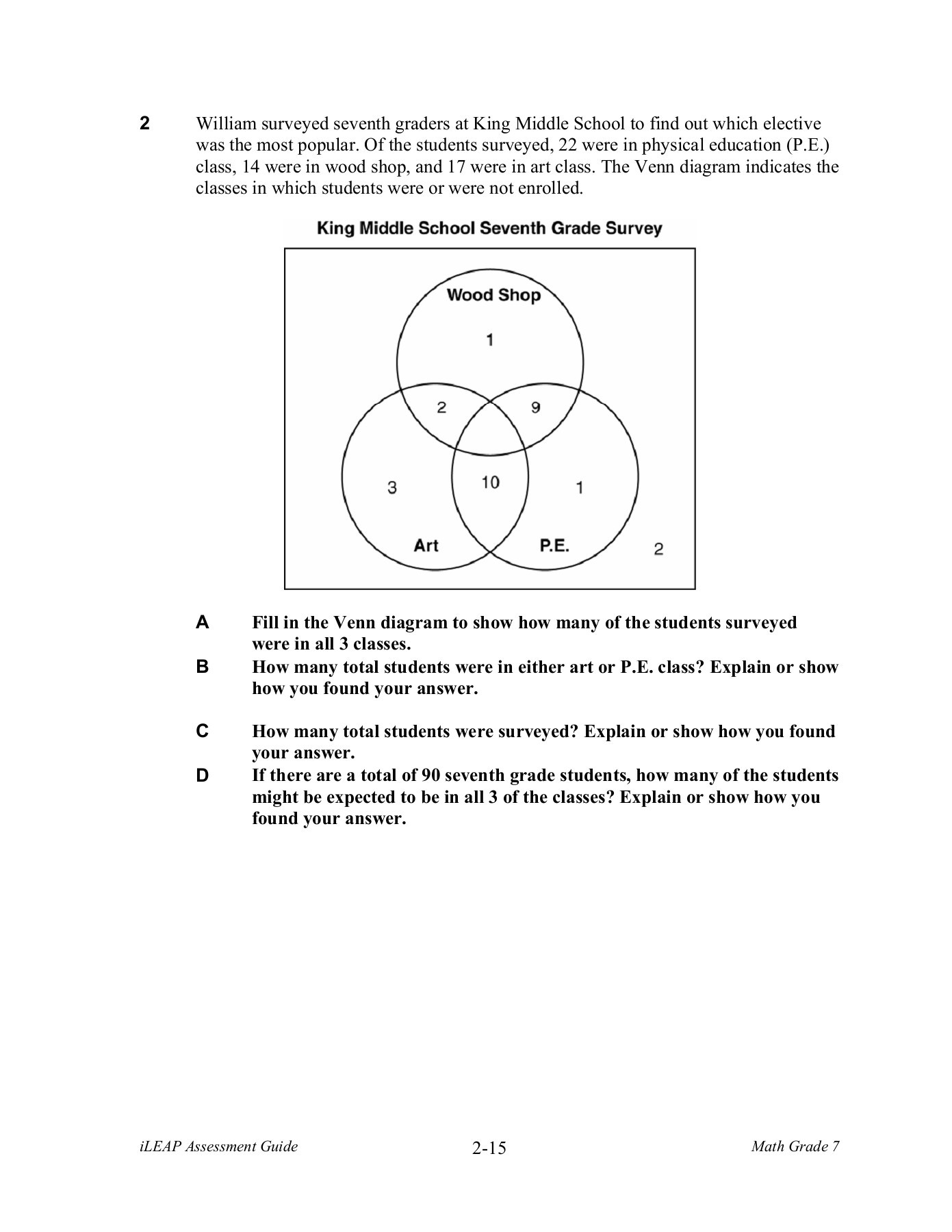 Grade 7 Venn Diagram Worksheet With Answers